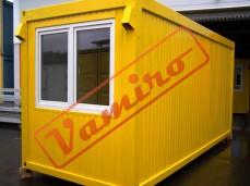 Obytný kontejner - REPASOVANÝ NA OBJEDNÁVKU - Buňka - kontejner obytný žlutý