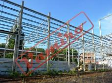 Konstrukce haly 60x60x8 m - Zánovní konstrukce haly  - trojlodní