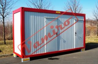 Sanitární kontejner 1,5x5m - WC ženy+WC muži - Sanitární kontejner 1,5x5m - WC ženy+WC muži